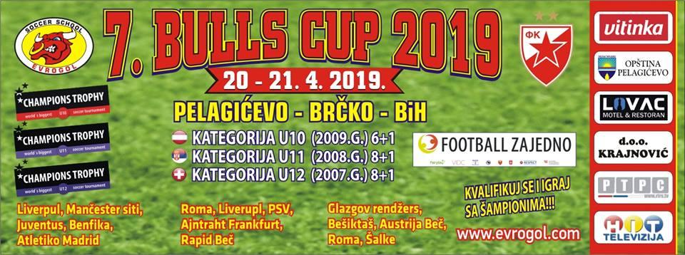 """RASPORED TAKMIČENJA NA """"BULLS CUPU 2019"""" ZA 2007. GODIŠTE"""
