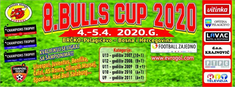 """""""BULLS CUP 2020"""" U 4. I 5. APRILA 2020. GODINE"""